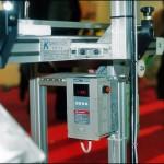 Konsis konveyör standart tek bölgeli markalama inkjet konveyör sisteminde hız kontrol cihazı..