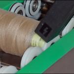 Konsis konveyör iplik bobin ucu markalama inkjet konveyör sistemi..