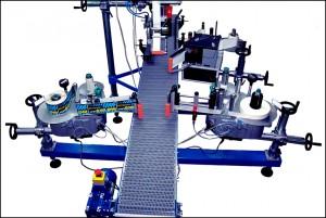 Konsis konveyör – İnci Akü 3 yüzeyden etiketleme konveyör uygulaması..